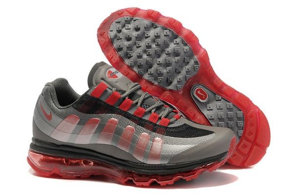 A206U Black Dark Grey Metallic Silver Sport Red - Nike Air Max Shoes ZY820591