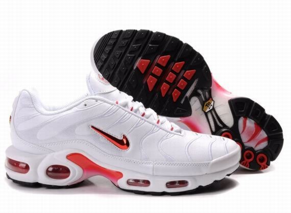 B259R White Sport Red Black - Nike Air Max Shoes LE645372
