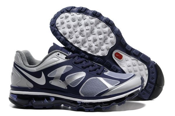 G262Y Navy Metallic Silver White - Nike Air Max Shoes IE315046