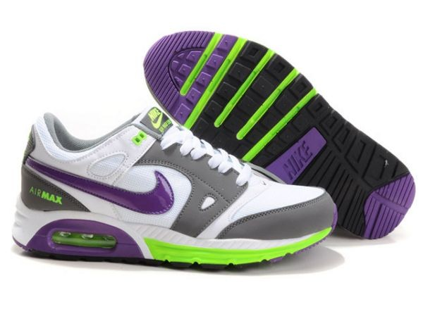 H625P White Grey Purple Volt - Nike Air Max Shoes QH635047