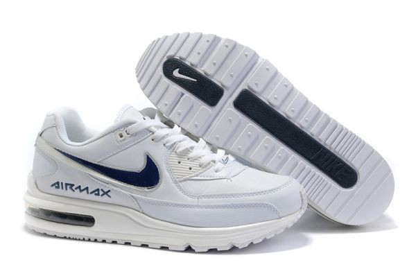 H626H White Metallic Silver Blue - Nike Air Max Shoes MJ238904
