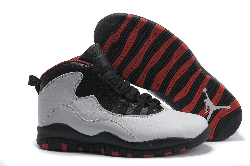 Nike Air Jordan 10 Mens Black/White QA320675