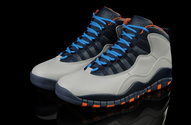 Nike Air Jordan 10 Mens Gray/Black/Orange ID372468