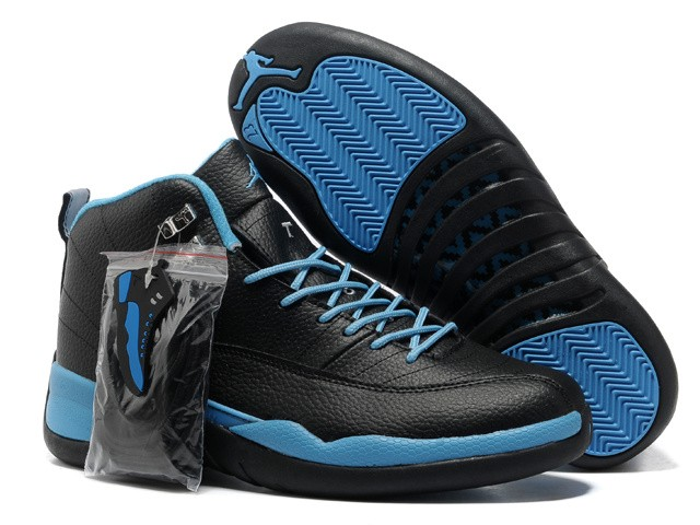 Nike Air Jordan 12 Mens Black/Blue LN780421