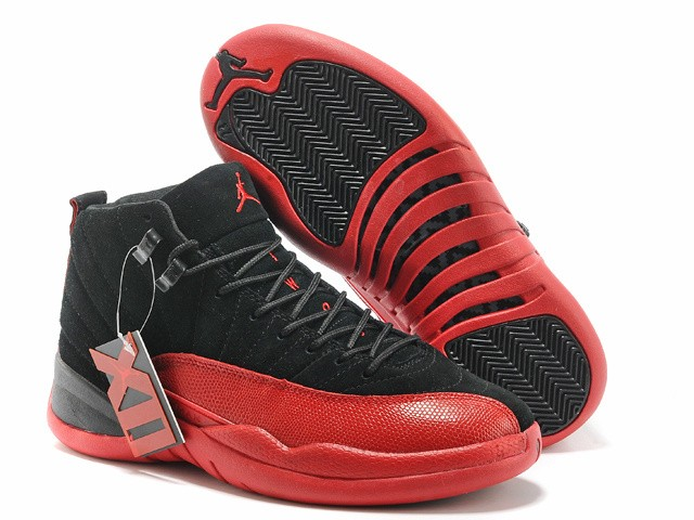 Nike Air Jordan 12 Mens Black/Red 0353 BJ532806