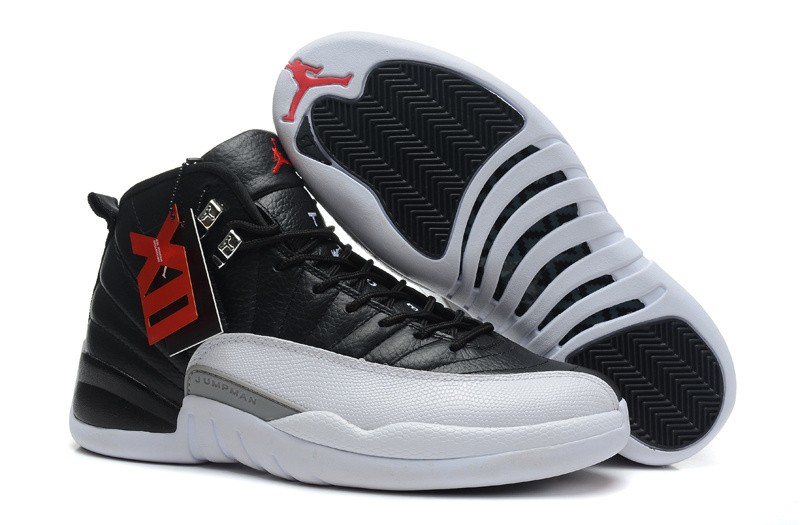 Nike Air Jordan 12 Mens Black/White 0345 BG531872