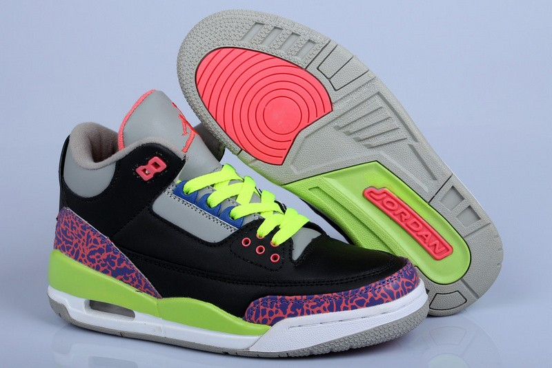 Nike Air Jordan 3 Womens Black/Pink 0864 UH590216