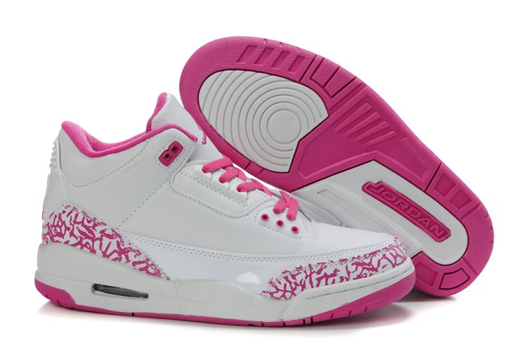 Nike Air Jordan 3 Womens White/Pink IR832507