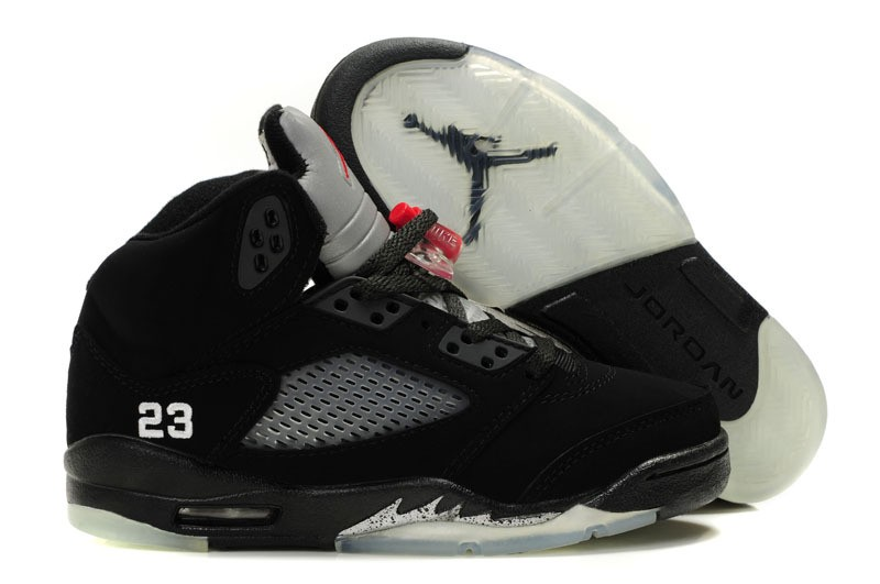 Nike Air Jordan 5 Mens Black/Red 0967 MM628453