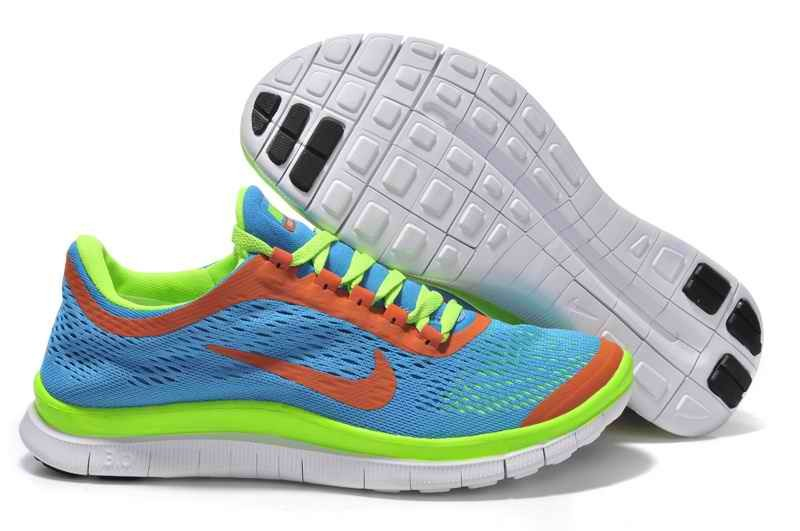 Nike Free 3.0 V5 Women Running Shoes - Deep Blue Gray TW910572