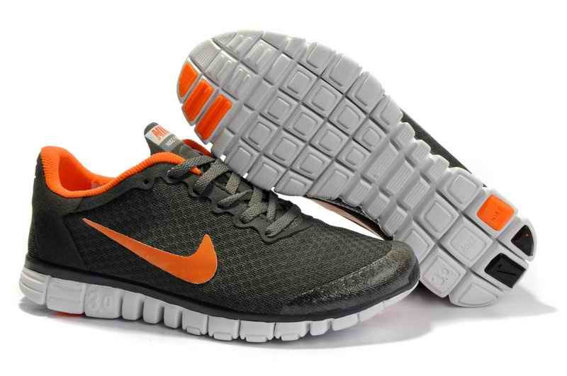 Nike Free 5.0 V4 Men Running Shoes Leather Gray HV816749