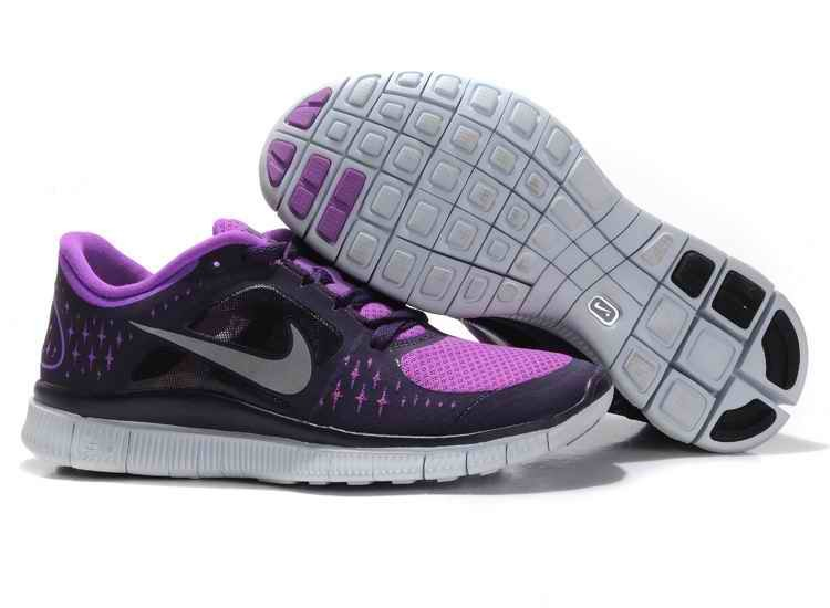 Nike Free Run 3 Women Running Shoes Gray Peach GK923871
