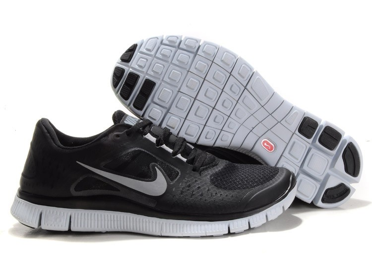 Nike Free Trainer 3.0 Mens Running Shoes - Black White BC716823